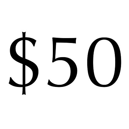Donations in multiples of $50