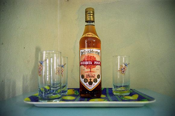 Bottle of Guayabita, La Habana, Cuba