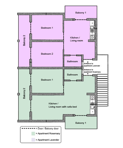 Apartment layout | Villa Berg