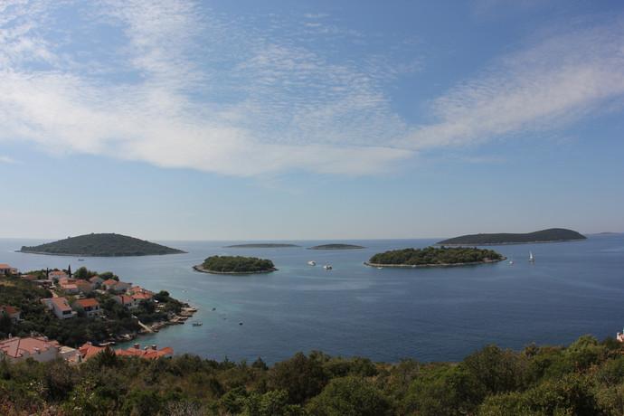 View of islands around Maslinica | Solta