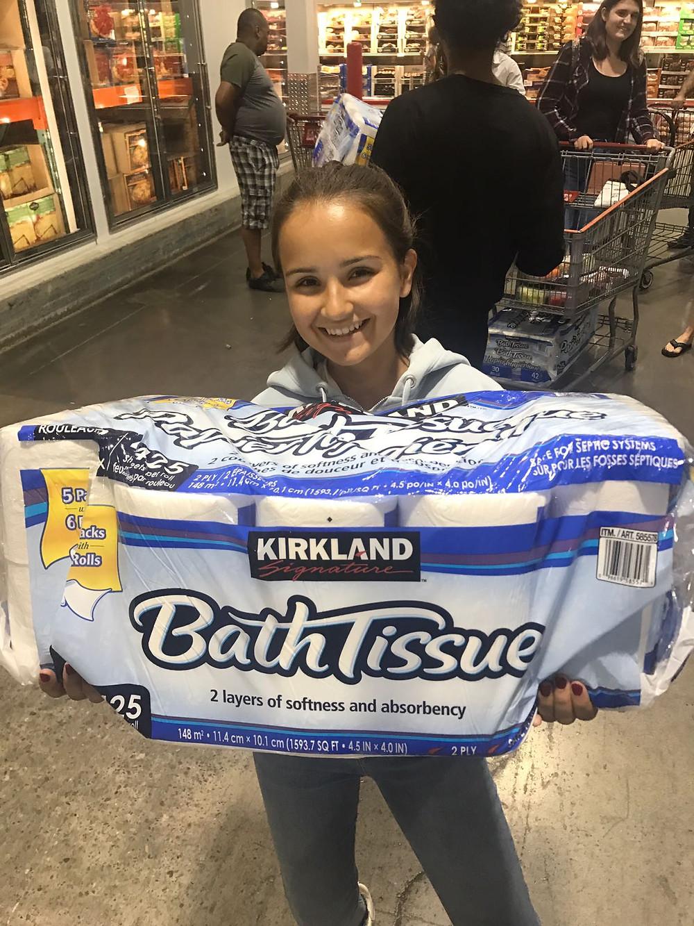 When you buy toilet paper in Costco...