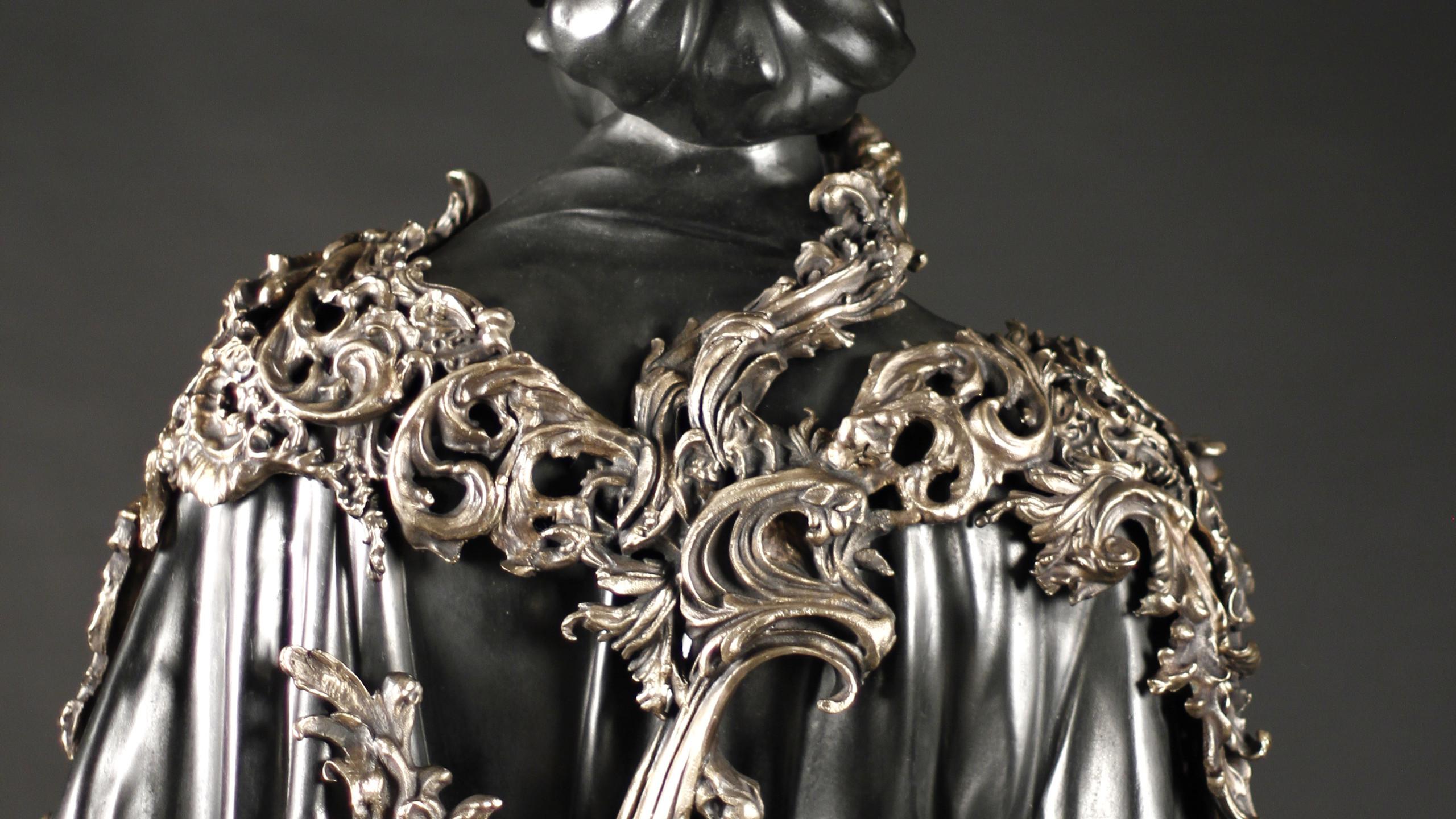 Rococo style relief bronze casting