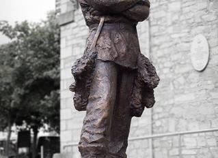 Unique bronze statue of Antarctic explorer Ernest Shackleton by Mark Richards