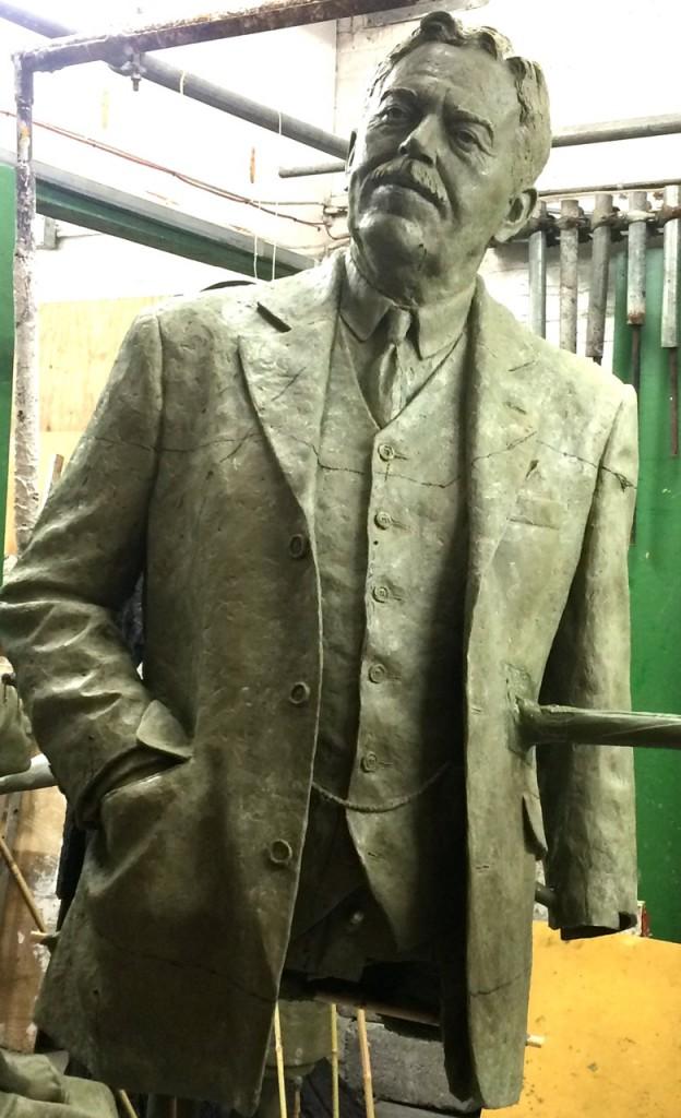 Gresley Sculpture torso in wax