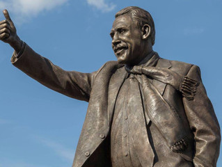 Chris Turner: Statue of Peterborough United and Cambridge United man unveiled, sculpted by Sean Hedg