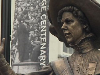 Sean Hedges-Quinn                            Statue of suffragette Alice Hawkins unveiled in Leicest