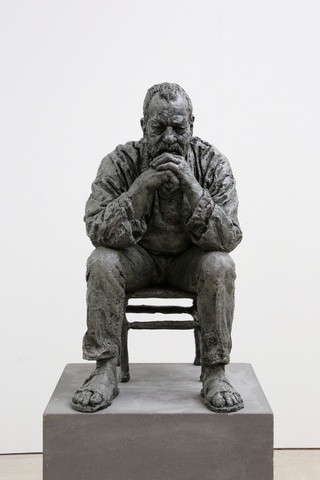 SEATED MAN , 2016 Bronze, exterior paint 72 x 40 x 53 cm | 28 x 16 x 21 in Edition AP (Edition of 6)