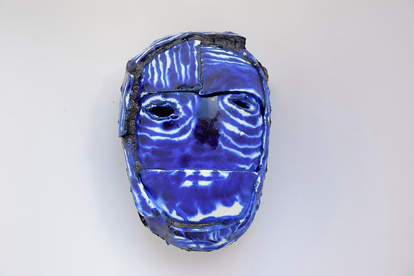 Masque - Céramique contemporaine Timothée Humbert - Atelier Poetic - grès -  émail - pigment