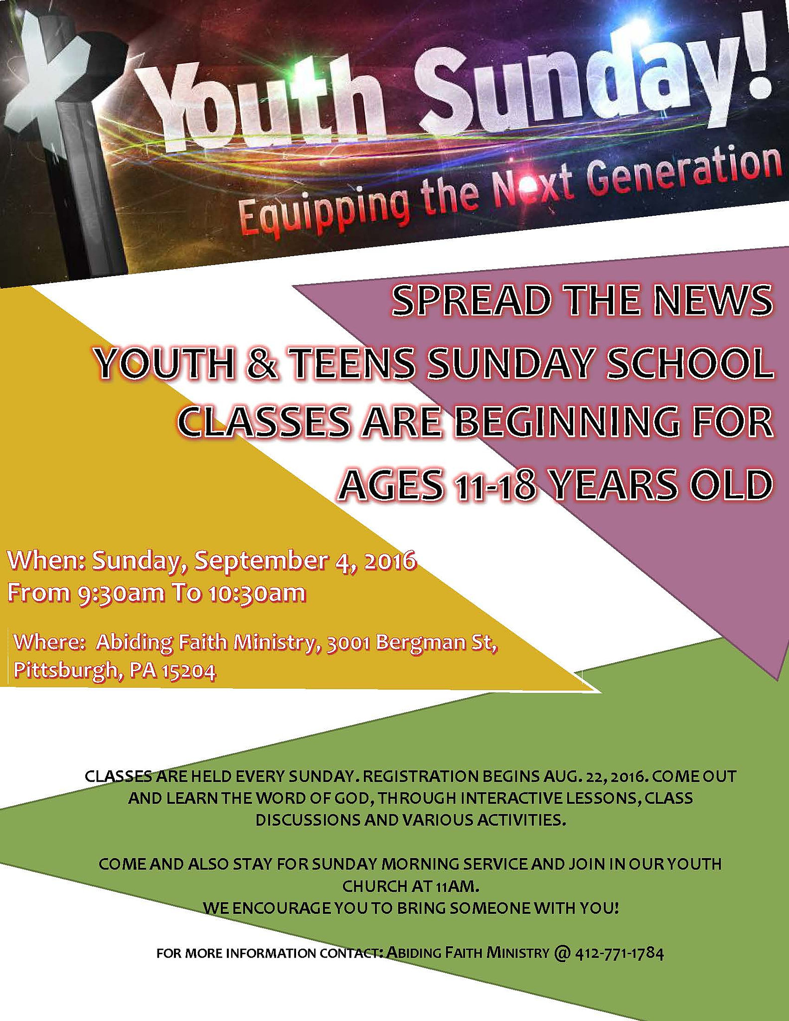 media ministry youth sunday school