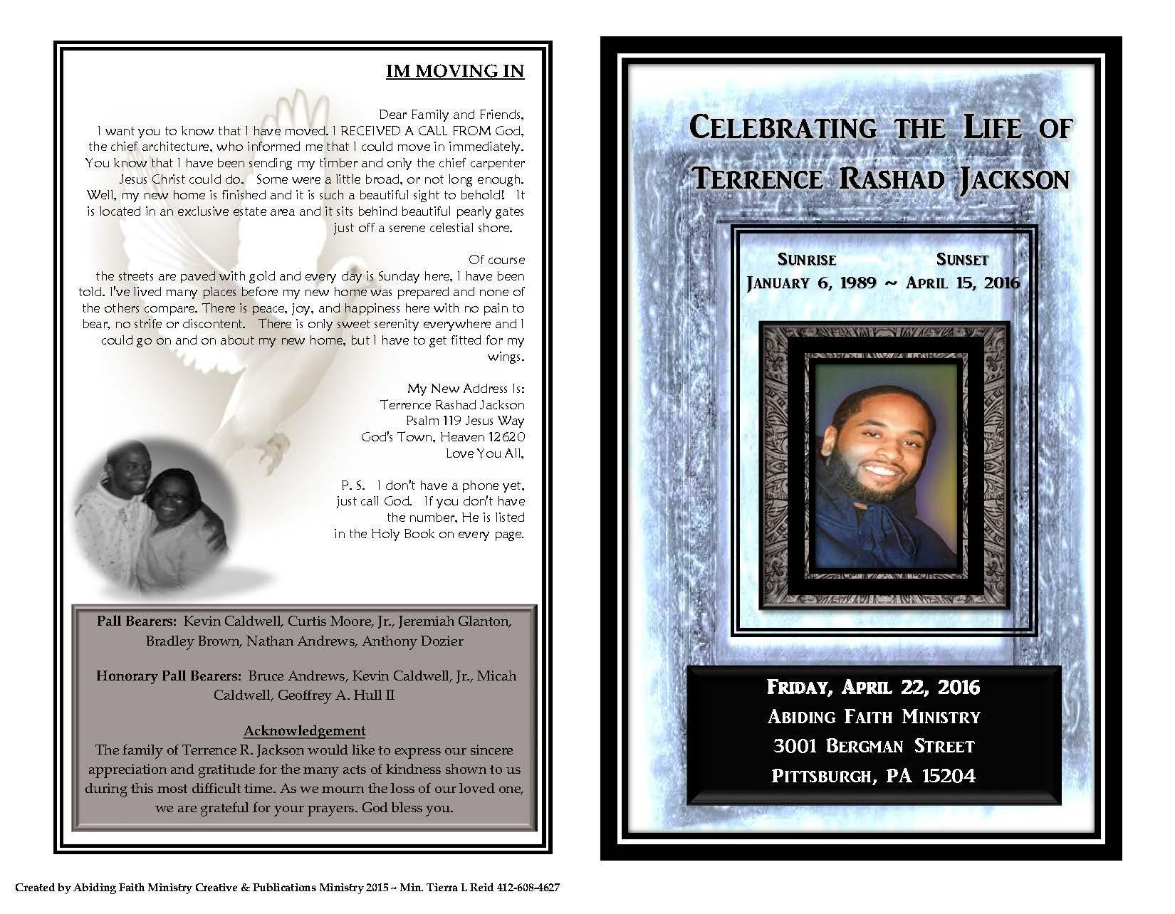 Funeral Program - Terrance Jackson_Page_1