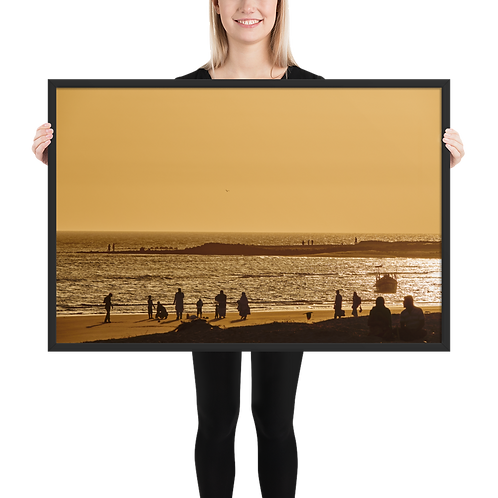 Luster Photo Paper Poster Framed - Sunset