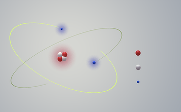 Model of Atom with Proton, Neutron, Electron