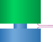 Accelerometer with shear tube element