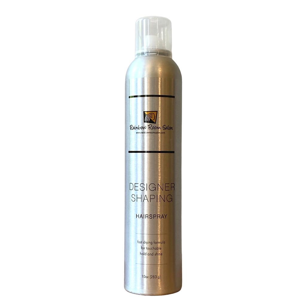 rainbow room salon Westlake Ohio. Designer shaping hairspray .Fast drying formula for touchable hold and shine