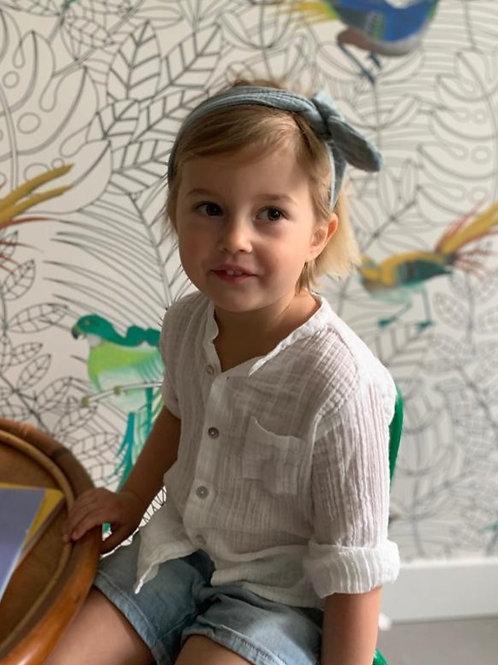 Headband en lange gaufré enfant et maman, 10 coloris