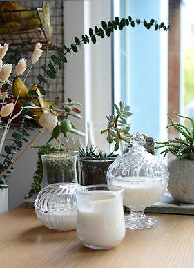 Bougies contenants chinés, Instant céleste