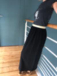 Jupe longue gaze de coton gaufrée