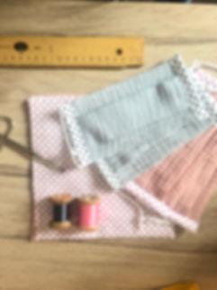 Masque barrière artisanal 2 couches, enfant et adulte