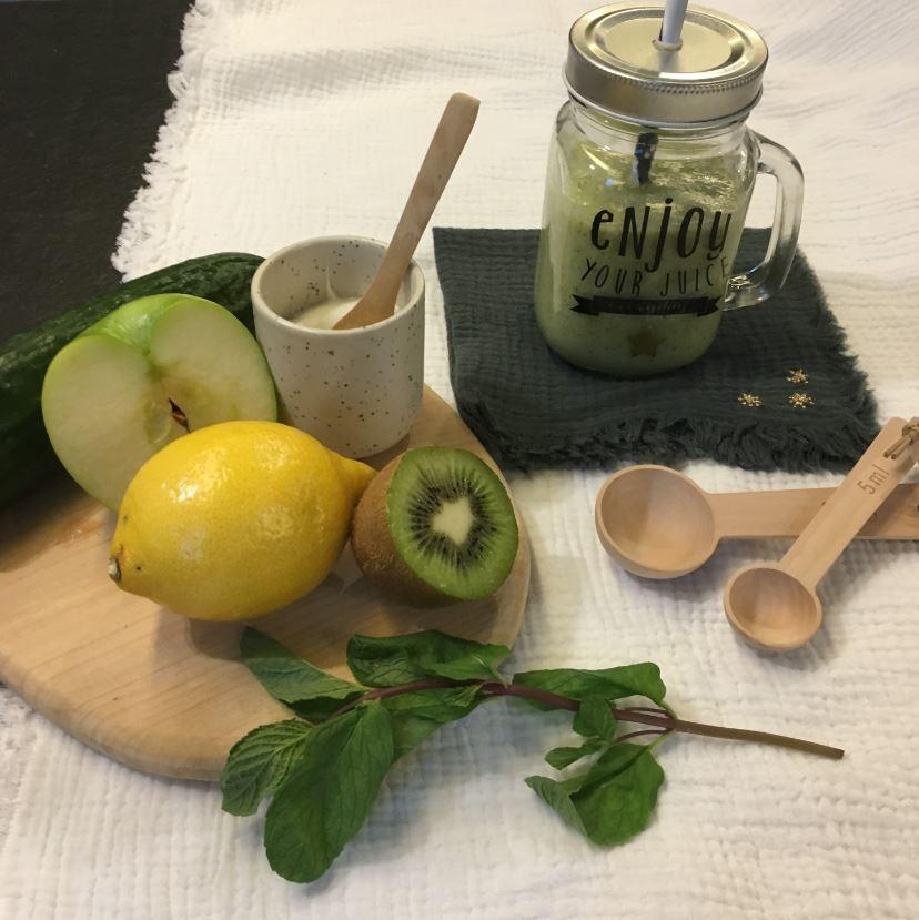 Recette Détox : smoothie concombre kiwi