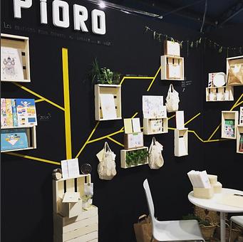 Créa stand Pioro editions, visual merchandising, Nantes
