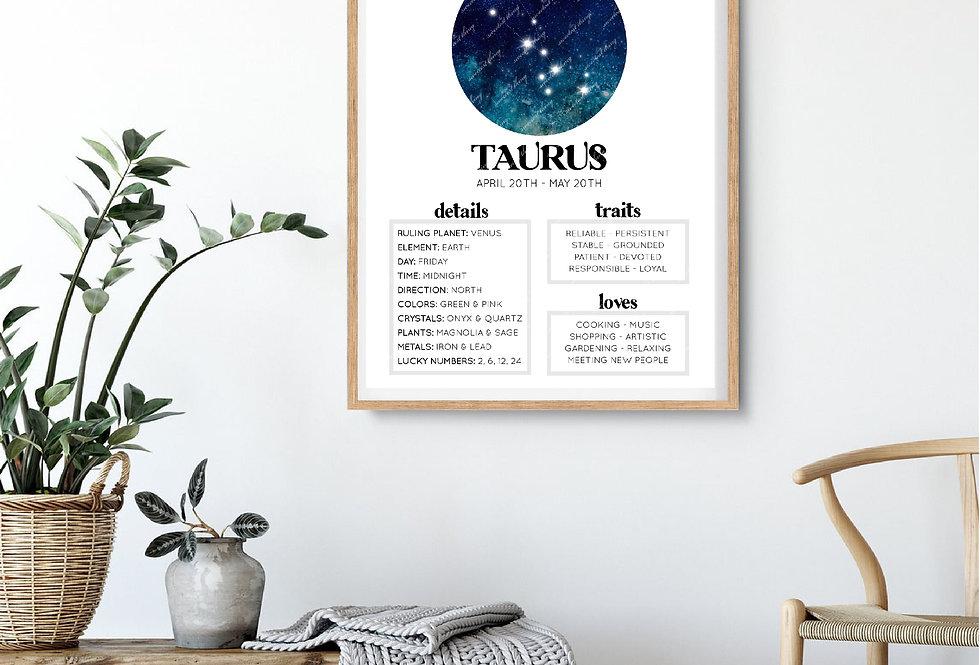 TAURUS | ASTROLOGY DIGITAL ARTWORK