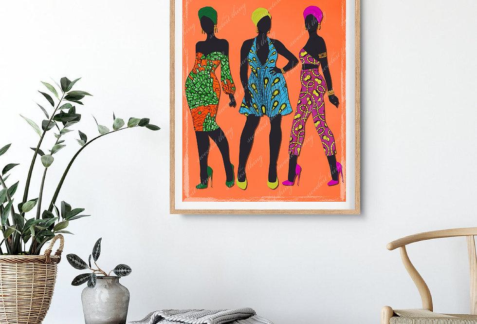 MY SISTERS | ABSTRACT DIGITAL ARTWORK