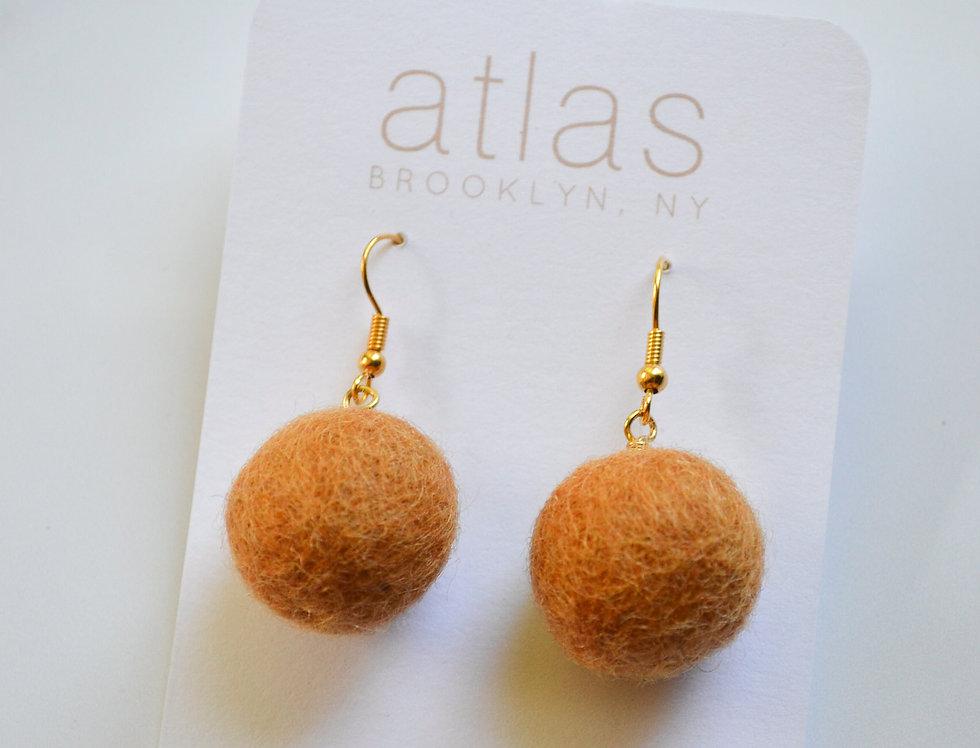 ATLAS EARRINGS - CAMEL