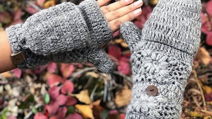 Crochet Patch Mittens