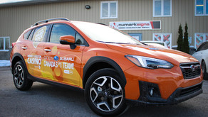 Otto's Subaru gets a facelift with slick new decals.