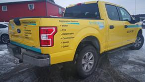 Service Master gets new skin on 5 trucks.