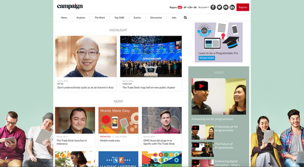 The Tradedesk Campaign Asia Content Hub