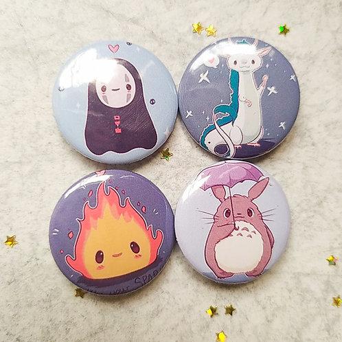 Colección botones studio Ghibli