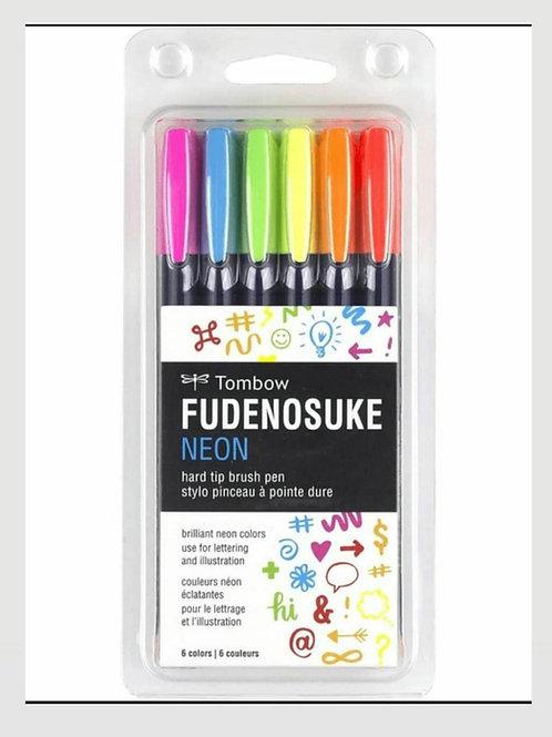 Tombow Fudenosuke neon x 6