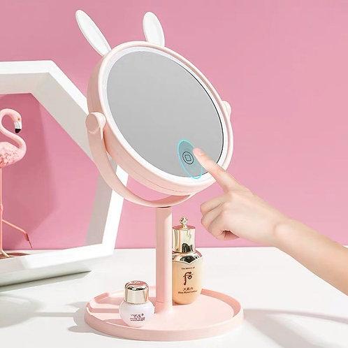 Espejo de conejito con luz led