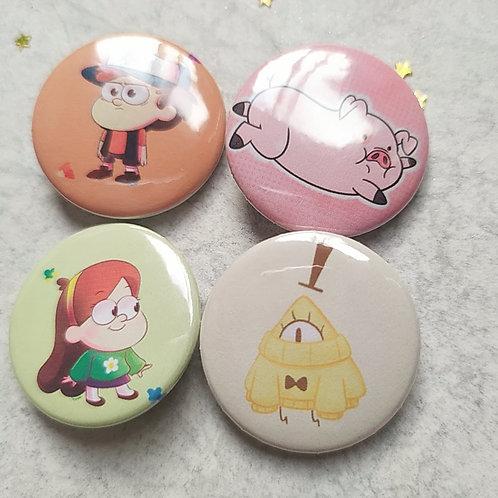 Colección botones Gravity falls