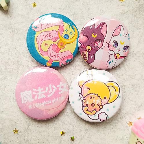 Colección botones magical girls