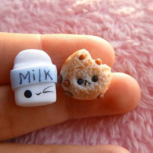 Aretes cookie & milk