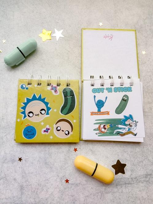 Mini libreta Rick y Morty