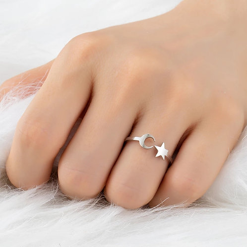 Anillo Moon and star