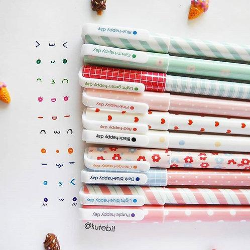 Set de esferos Happy pattern