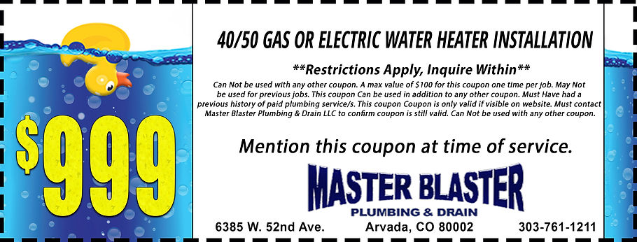 $999, 40 or 50 Gas or Electric Water Hea