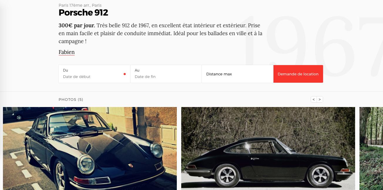Fiche Voiture Roadstr.fr