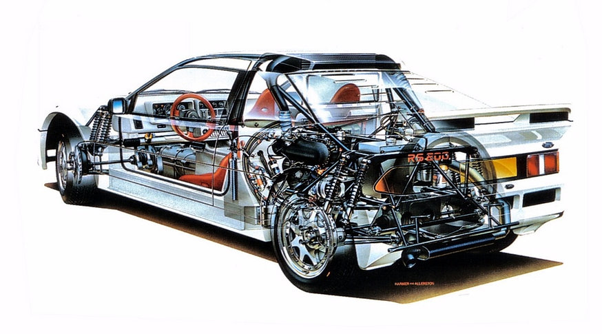 Chassis Ford RS200