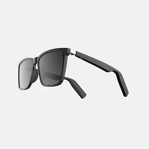 TWS Smart Audio Sunglasses - ACE Square Frame - Nylon Dark Gray Lenses(1st Gen)