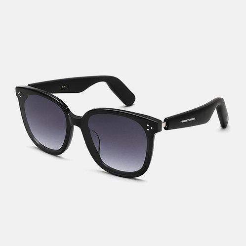Smart Audio Sunglasses(2nd Gen): ACE Round Square Frame - Nylon Lens - Dark Gray