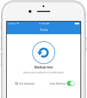 Simpler Contacts - Backup your iPhone iPad Android address book contacts in one touch & store in cloud securely