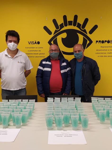 Aya Tech doa gel antisséptico inovador para idosos em asilos de Florianópolis