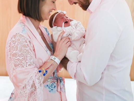 Manu Berger dá à luz a pequena Isabelle