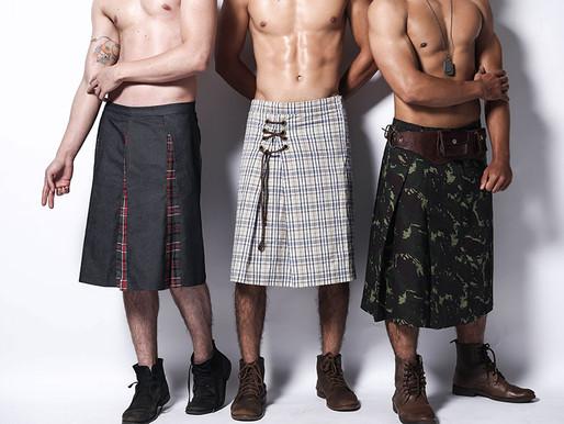 Estilista de Florianópolis cria coleção de saias masculinas