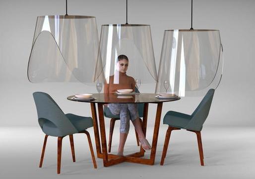 Designer Francês criou mobiliário que diminui o potencial de contágio em restaurantes